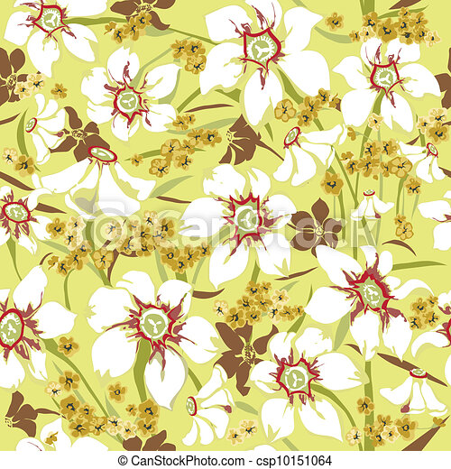 Seamless pattern with daffodils - csp10151064