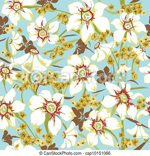 Seamless pattern with daffodils - csp10151066