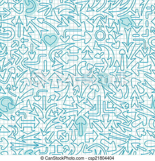 Seamless pattern with different arrows. - csp21804404