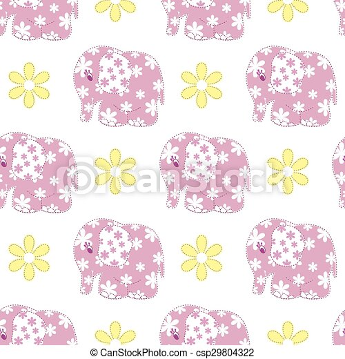Seamless pattern with elephants - csp29804322