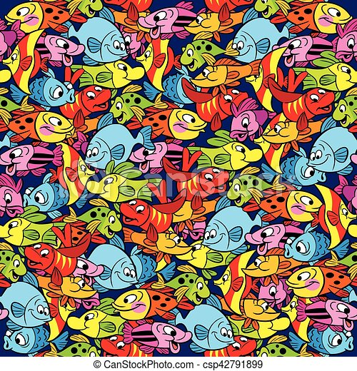 seamless pattern with fish - csp42791899