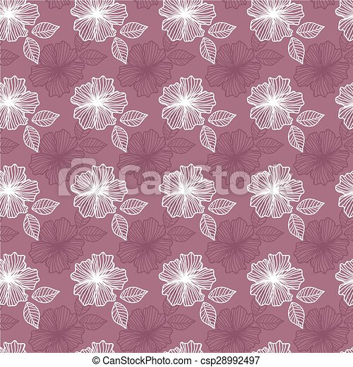 Seamless pattern with flowers - csp28992497
