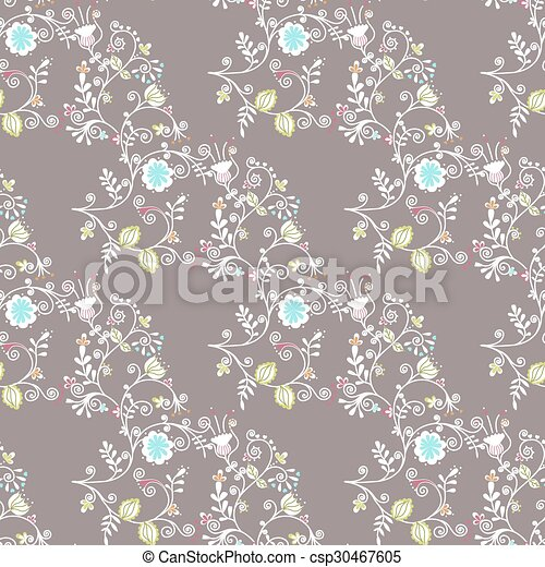 seamless pattern with flowers - csp30467605