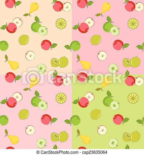 Seamless pattern with fruits - csp23635064