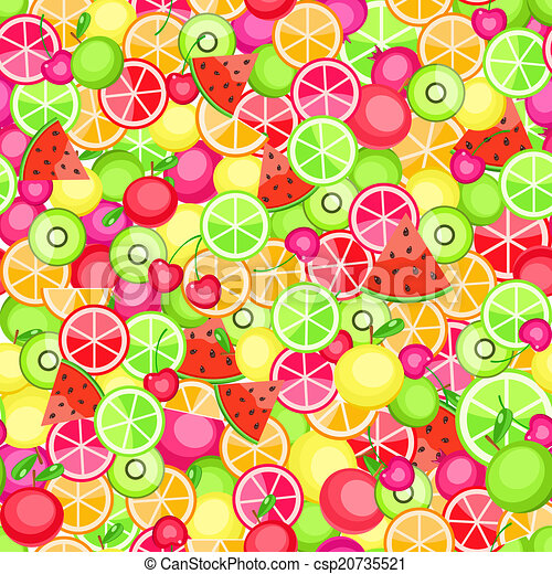 seamless pattern with fruits - csp20735521