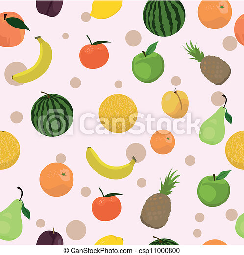 seamless pattern with fruits - csp11000800