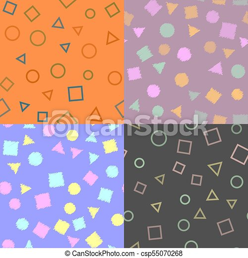 Seamless pattern with geometric figures. Texture pattern. Vector. - csp55070268