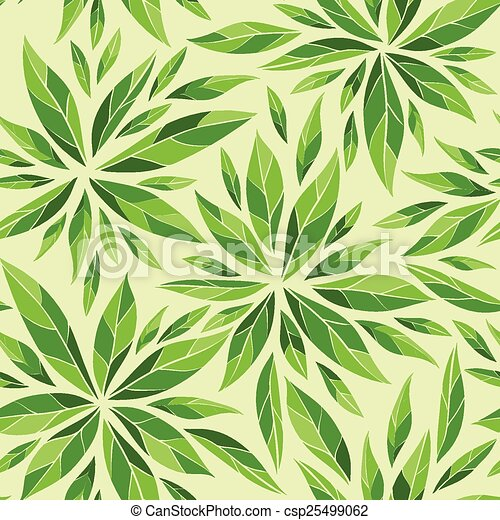 Seamless pattern with green leaves - csp25499062