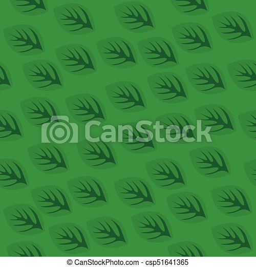 Seamless pattern with green leaves - csp51641365