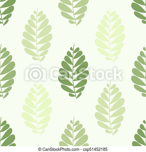 seamless pattern with green leaves - csp51452185