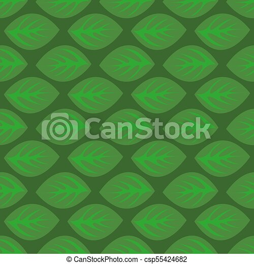 Seamless pattern with green leaves - csp55424682