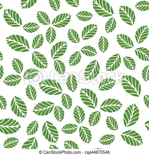 Seamless pattern with greenery leaves - csp44970546