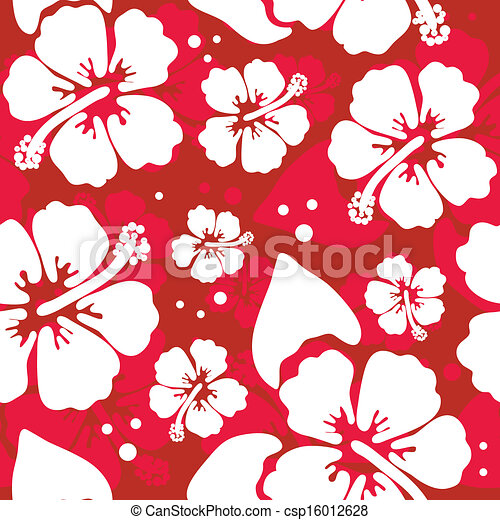 780ecb781b98 Seamless pattern with hawaiian hibiscus flower.
