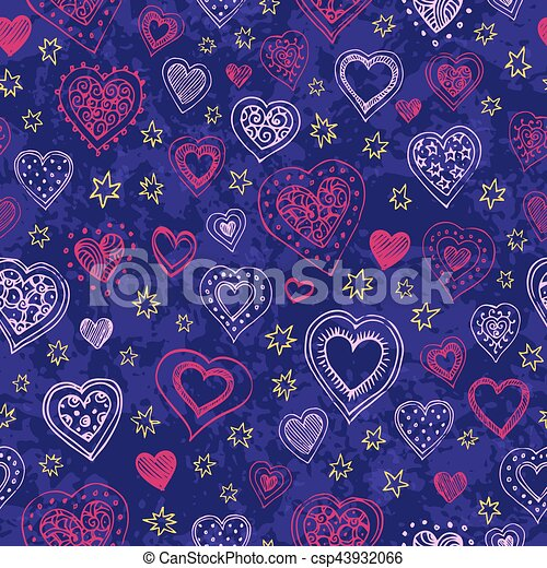 Seamless pattern with hearts - csp43932066