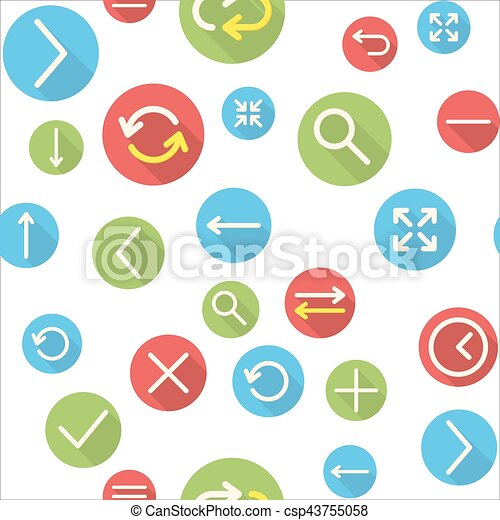 Seamless pattern with icons - csp43755058