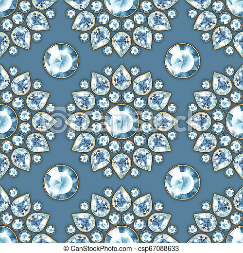 Seamless pattern with jewels 3 - csp67088633