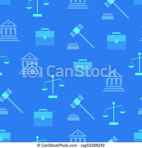 Seamless Pattern with Law Symbols on Background - csp53368249