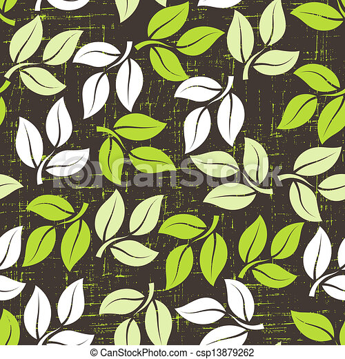 Seamless pattern with leaves. - csp13879262