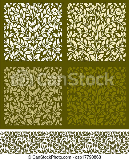 Seamless pattern with leaves - csp17790863