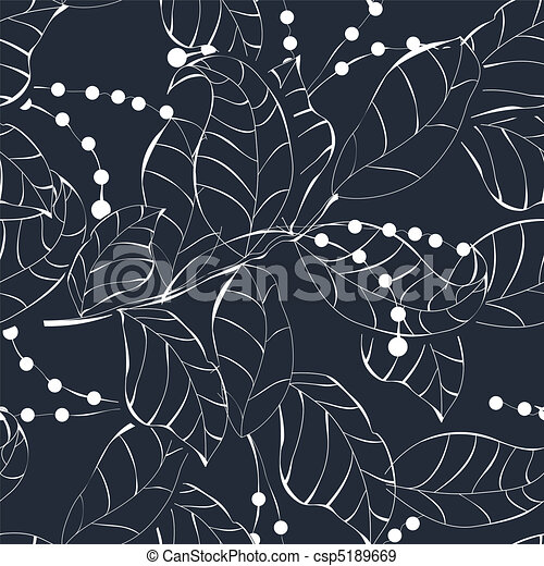 Seamless pattern with leaves - csp5189669