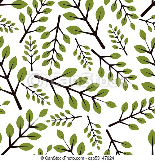 seamless pattern with leaves - csp53147924