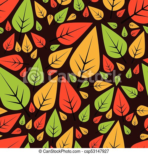 seamless pattern with leaves - csp53147927
