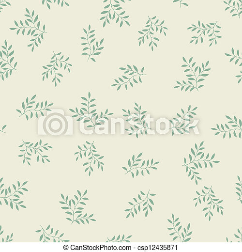 Seamless pattern with leaves. - csp12435871