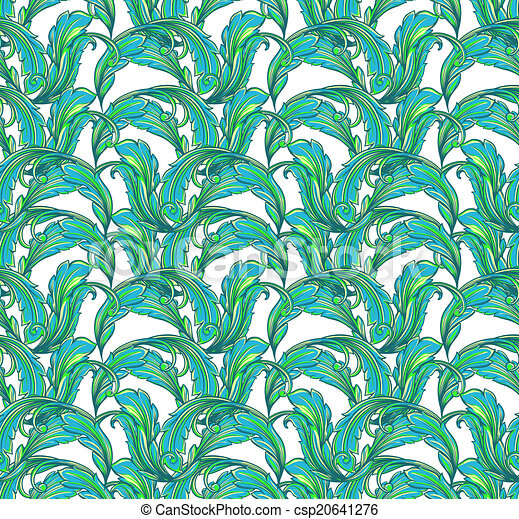 seamless pattern with leaves - csp20641276