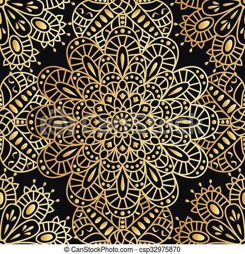 Seamless pattern with mandala - csp32975870