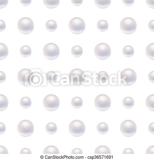 Seamless pattern with pearls. - csp36571691
