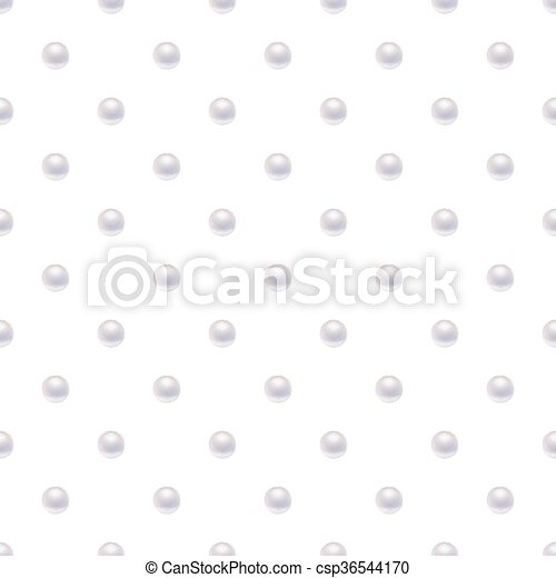 Seamless pattern with pearls. - csp36544170