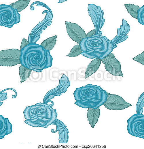 seamless pattern with roses - csp20641256