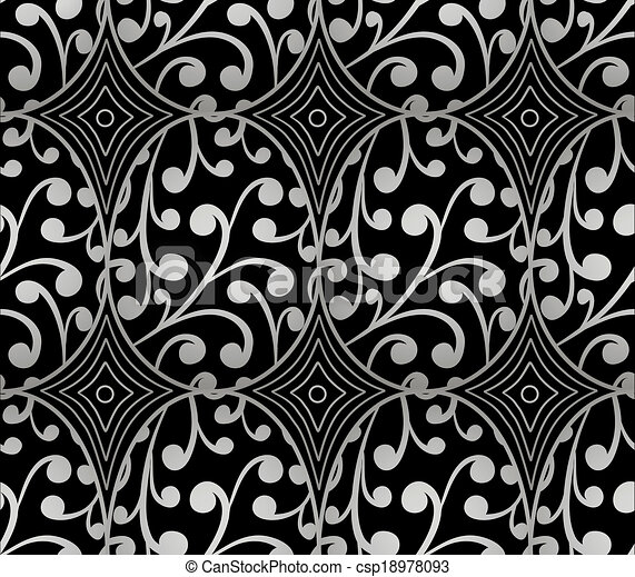 Seamless pattern with silver easter - csp18978093