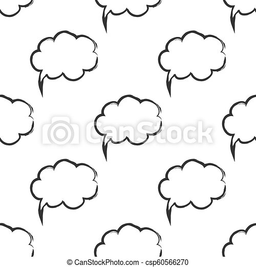 Seamless pattern with speech bubbles Welcome background  Doodle speech  bubble pattern  Friendship design for your skin device or website