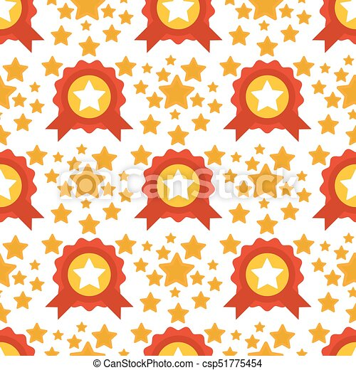 Seamless Pattern With Stars Award Decorative Modern Print Wallpaper Colorful Texture Design Decoration Vector Illustration
