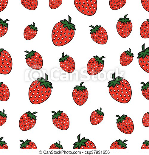 seamless pattern with Strawberry - csp37931656