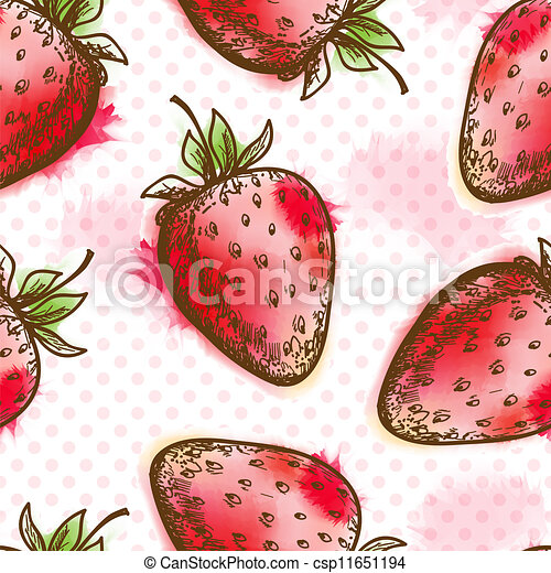 Seamless pattern with strawberry - csp11651194