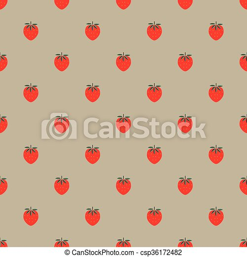 seamless pattern with strawberry - csp36172482
