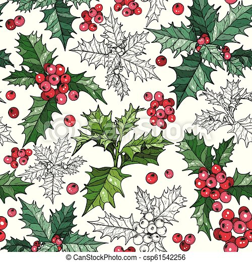 Seamless Pattern With Traditional Christmas Flowers Poinsettia Plants Seamless Pattern With Traditional Christmas Flowers Canstock