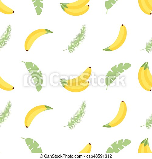 Seamless Pattern With Tropical Palm Leaves And Bananas Vector Illustration Easy To Use For Backdrop Textile Wrapping Canstock Download transparent tropical leaves png for free on pngkey.com. https www canstockphoto com seamless pattern with tropical palm 48591312 html