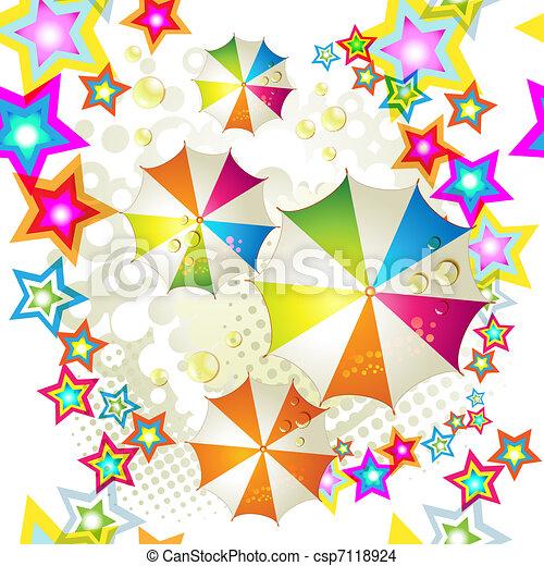 Seamless pattern with umbrellas - csp7118924
