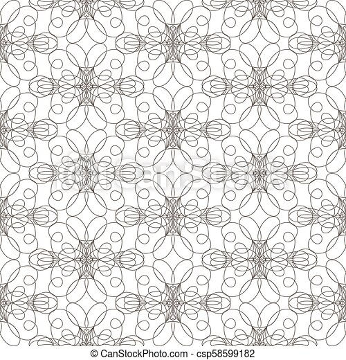 Seamless pattern with wavy lines lines on white background - csp58599182