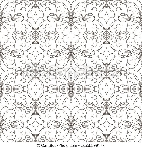 Seamless pattern with wavy lines lines on white background - csp58599177