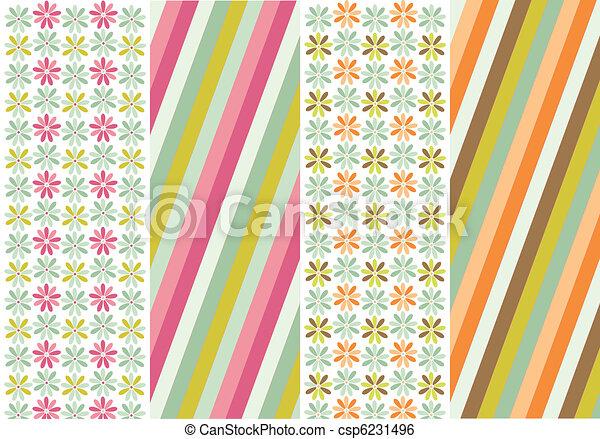 seamless patterns, fabric texture - csp6231496