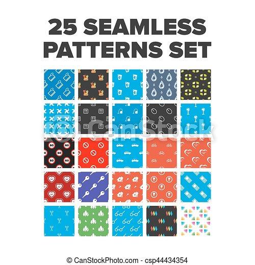 Seamless patterns set - csp44434354