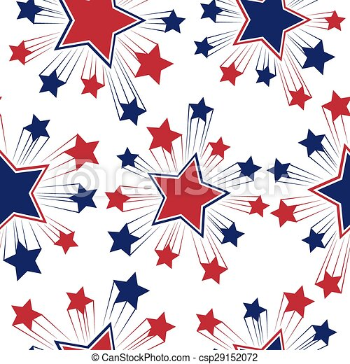 Seamless Patterns With American Symbols Vector Usa Flag Vectors