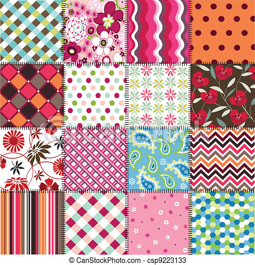 seamless patterns with fabric textu - csp9223133