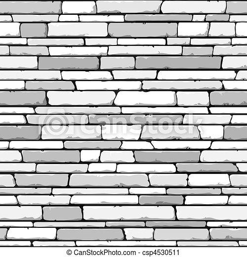 La pared de piedra. Sin techo. - csp4530511