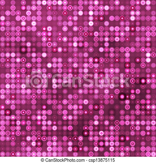 Seamless Pink Background With Circles