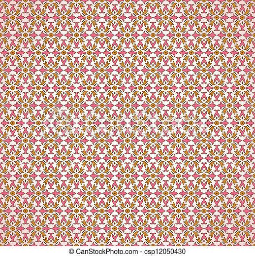 Seamless pink decorative wallpaper - csp12050430